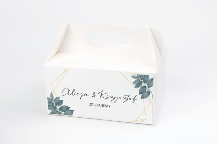 personalizowane pudełko na ciasto