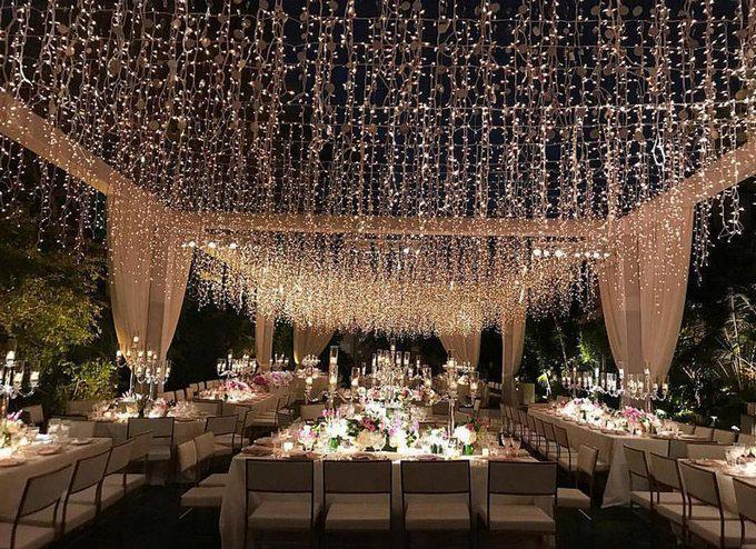oświetlenie w sali weselnej